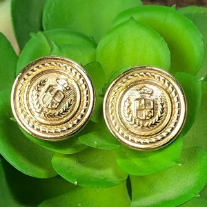 Liz Claiborne Button Post Coin Style Earrings